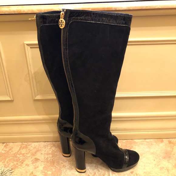 712 Suede And Patent Leather Boot